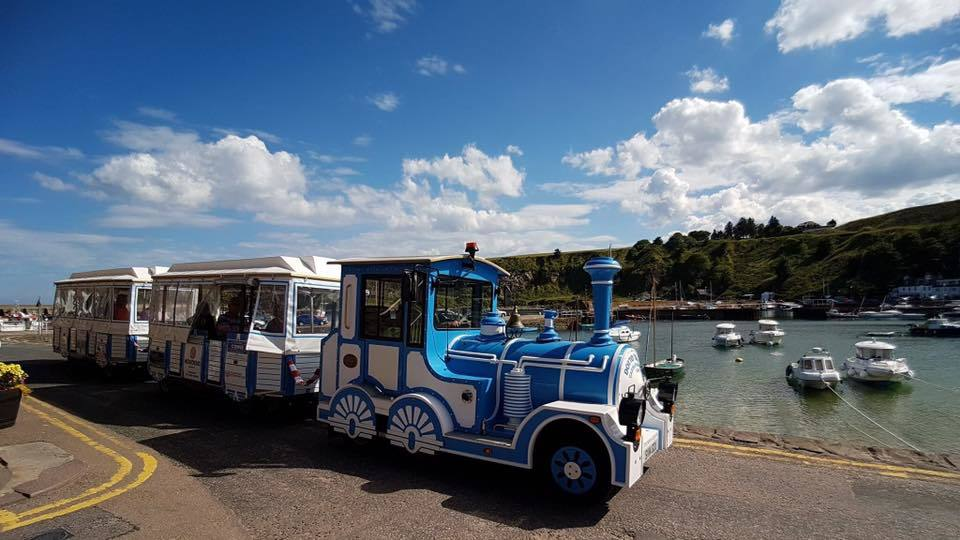 Stonehaven land train at harbour