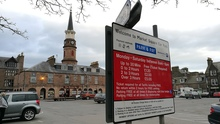 picture of parking charges sign at Market Square