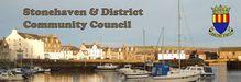 SDCC banner harbour scene plus crest