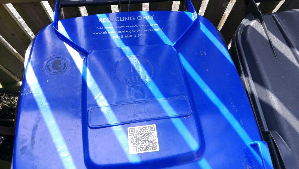 blue recycling bin lid