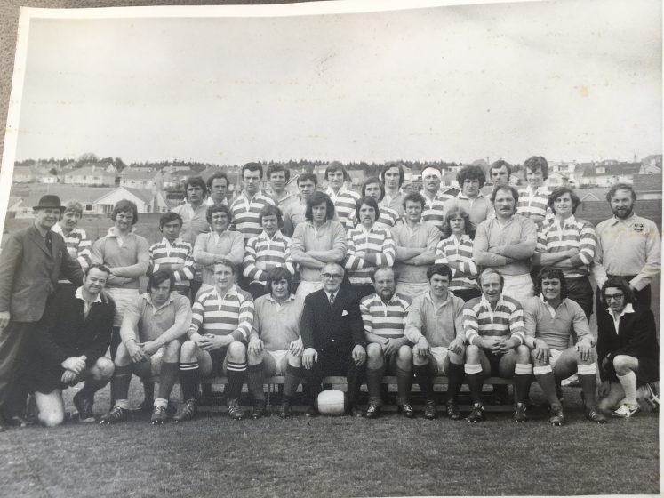old black and white photo of rugby team