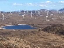 wind turbines on a remote hillside