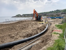 pipeline and digger