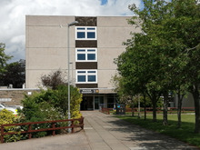 Frontage of Mackie Academy