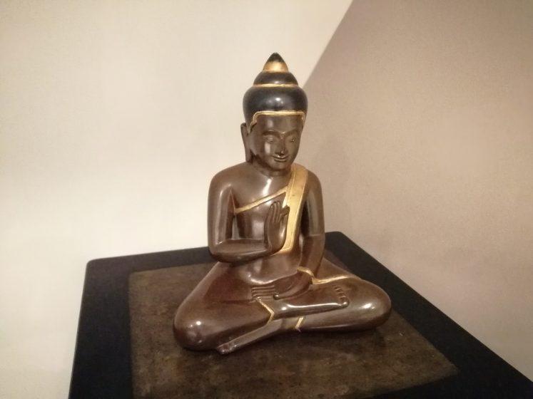 A buddha statuette