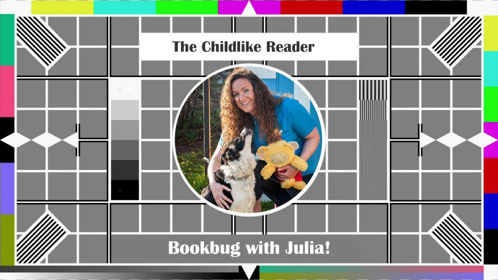 Visual play on old BBC testcard - Julia's picture in the middle