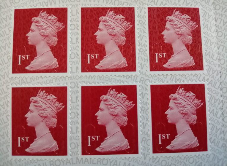 a sheet of first class stamps